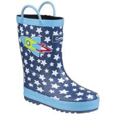 Cotswold Sprinkle Childrens Wellingtons Blue / White