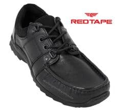 Red Tape - Bourne Black Leather Lace Up Shoes