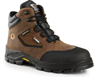 Jallatte Jalroche S3 Brown Leather Metal Free Safety Toecap Gore-Tex Vibram Boots