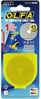 1 pce. Olfa RB45-1, Ø45mm rotary cutter blade for the Olfa RTY-2/G and RTY-2/DX cutters