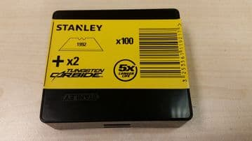 100 x Original Stanley 1992, Heavy Duty Straight Blades, 2 notch, Stanley 11-921