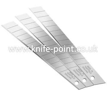 1000 pieces of 9mm Snap Off Blades, in protective tubes, MADE IN SHEFFIELD
