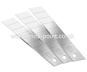 200 pieces of 18mm Snap Off Blades, in protective tubes, MADE IN SHEFFIELD