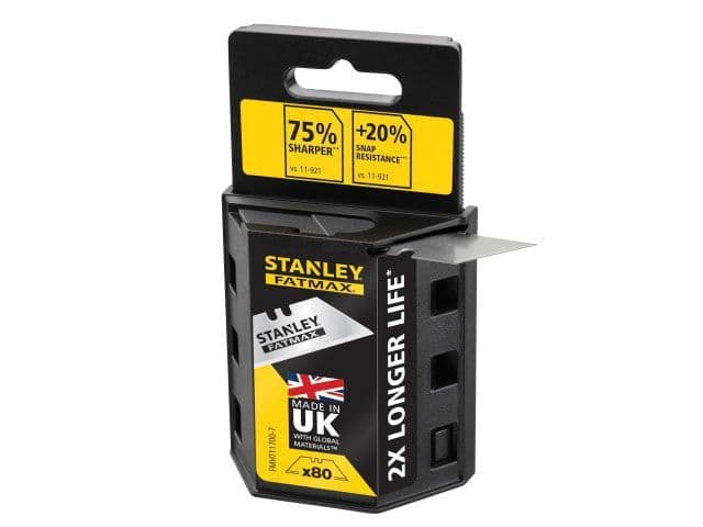 80 x Stanley FATMAX 11-700 Trimming Knife Blades Carbide Knife Blades Pack of 10