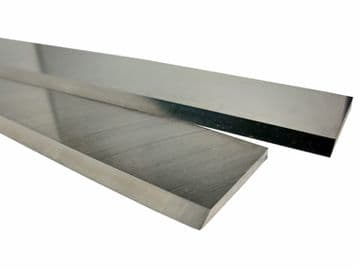 """COOKSLEY type SLOTTED planer blades 17 1/2"""" long, T1 HSS 18%W quality"""