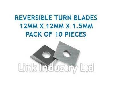 FREUD CG01M BA3 compatible 12 x 12 x 1.5mm TUNGSTEN CARBIDE REVERSIBLE TURN BLADES to fit FREUD CG01M BA3