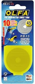 RB45 - pack of 10 pieces of original Olfa 45mm rotary blades