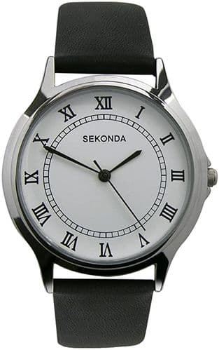 3022 Sekonda Round Watch Men's With A Really Clear Dial White Dial With Black Roman Numbers
