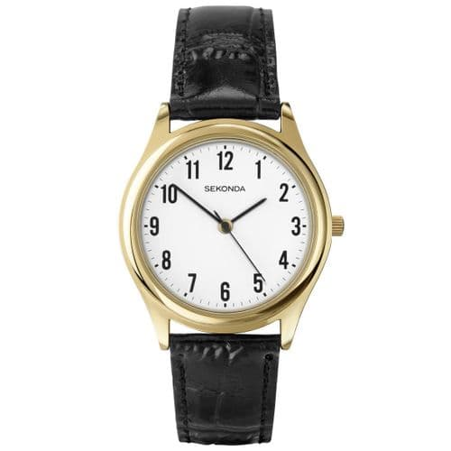 3623 Sekonda Round Watch Men's With A Really Clear Dial White Dial With Black Arabic Numbers