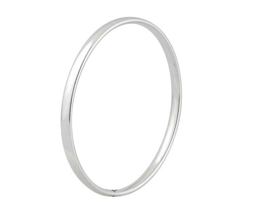 4.5 mm Rounded Plain Sterling Silver Polished Bangle SCOB2