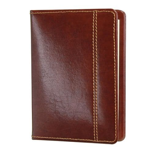 70877 Dulwich Designs brown leather A6 notebook case