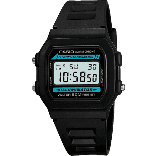 Casio Mens Black Resin Digital Watch W-86-1VQES