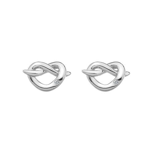 Hot Diamonds Sterling Silver Infinity Heart Earrings DE450