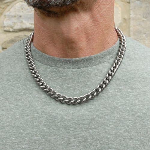 Men's Titanium Heavy Curb Necklace Chain