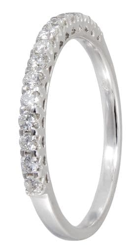 Claw Set Eternity Ring Diamond White Gold 32 Points