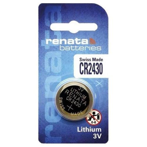 CR2430 Renata Battery Lithium Coin 3V Round Watch or Device Battery
