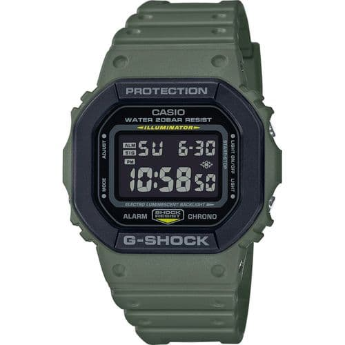 DW-5610SU-3ER Casio Watch G Shock Men's Green Rubber Strap Digital