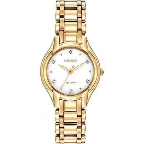 EM0282-56A Citizen Watch Stainless Steel Eco-drive SILHOUETTE DIAMOND