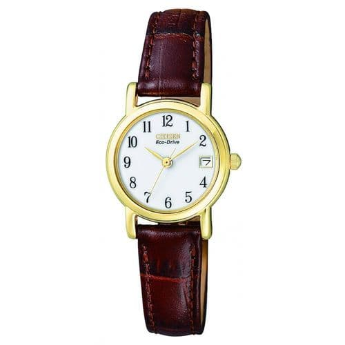 EW1272-01A Citizen Watch Stainless Steel With Yellow Gold Plated Eco-Drive Ladies Straps