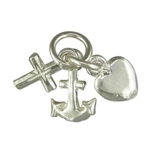 Faith Hope And Charity Sterling Silver Charm