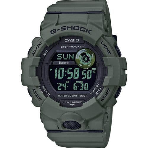 GBD-800UC-3ER Round Green Casio Watch G-SQUAD Utility Colour G Shock Men's Rubber Strap Digital