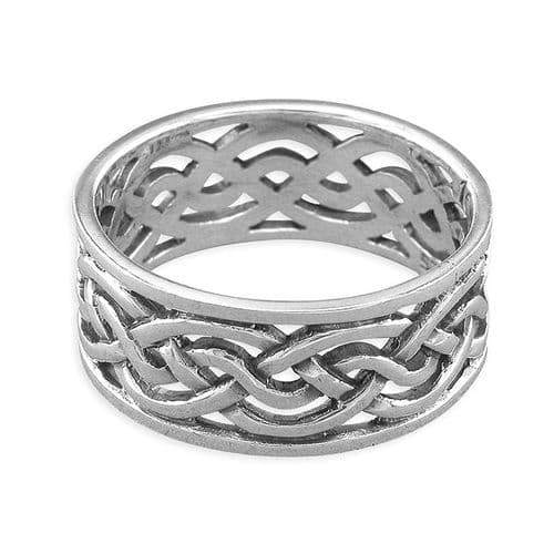 Gents Sterling Silver Men's 9 mm Wide Celtic Ring