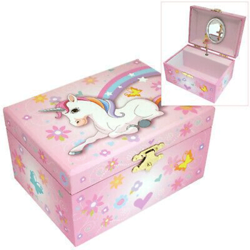 Girl's Ballerina Pink Unicorn Musical Jewellery Box