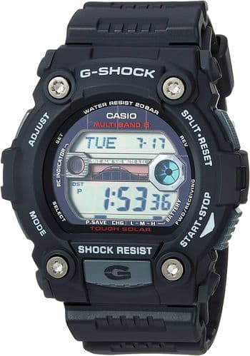 GW-7900-1ER  Casio g shock black round digital rubber strap watch