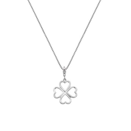 Hot Diamonds Heart Shamrock Sterling Silver Lucky In love Necklace Pendant
