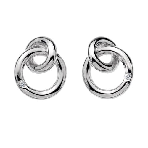 Hot Diamonds Sterling Silver Eternity Interlocking Stud Earrings DE308