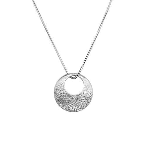 Hot Diamonds Sterling Silver Quest Filigree Circle Necklace DP833