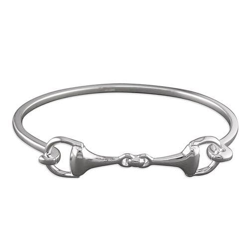 Ladies Sterling Silver Snaffle Opening Bangle