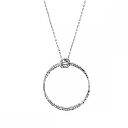 Large Round Sterling Silver Unity Statement Circle Pendant DP739