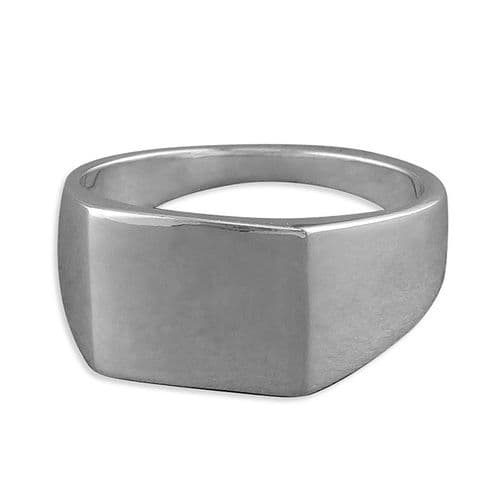 Men's Sterling Silver Square Gents Sterling Silver Signet Ring