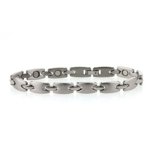 Men's Titanium Fancy Link Hidden Magnet Bracelet