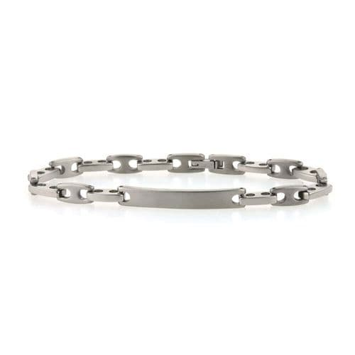 Men's Titanium Fancy Link ID Bracelet