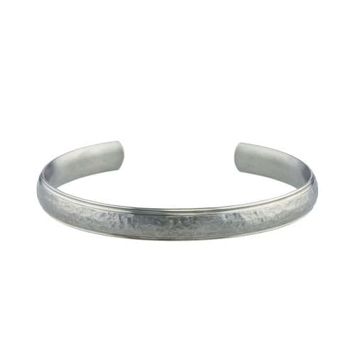Men's Titanium Hammered Effect 8mm Torque Bangle