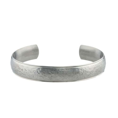 Men's Titanium Hammered EffectTorque Bangle
