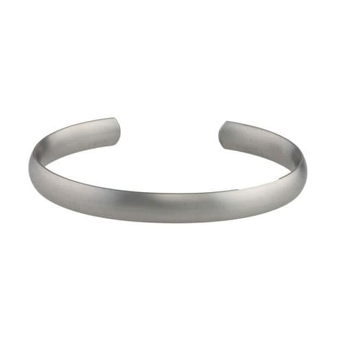 Men's Titanium Satin Finish 8mm Torque Bangle