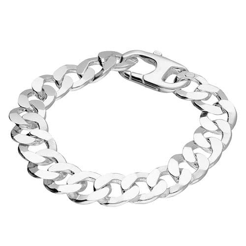 Mens solid 48g sterling silver extra heavyweight 8.75 inch curb bracelet