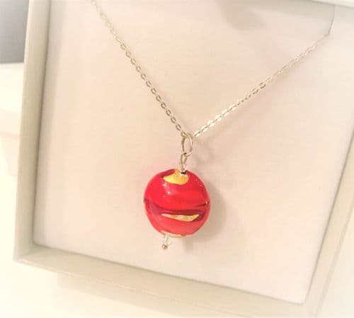 Red Gold Murano Gold Bead Necklace