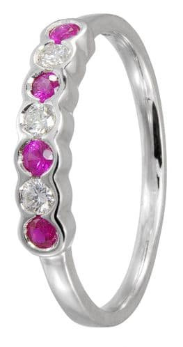 Ruby And Diamond White Gold Eternity Ring