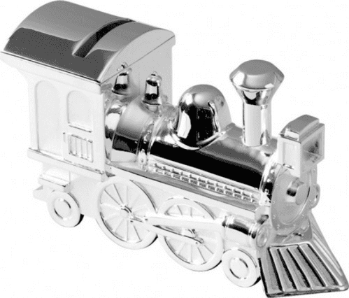 Silver Plated Train Money Box Christening, Page Boy  Gift