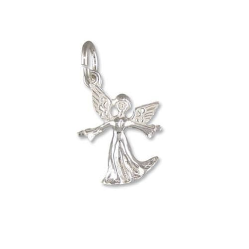 Small Angel Charm Sterling Silver Charm