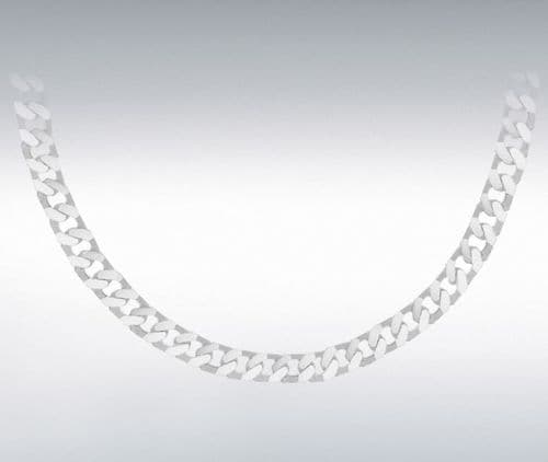 Solid Heavy Men's Sterling Silver Curb Necklace Chain