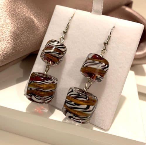 Statement Bold Murano Glass Drop Earrings