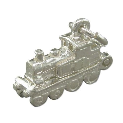 Steam Train Charm Sterling Silver