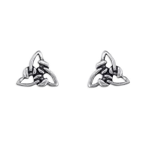 Sterling Silver Celtic Triangle Stud Earrings R8542