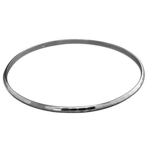 Sterling Silver Faceted Diamond Cut Slave Bangle