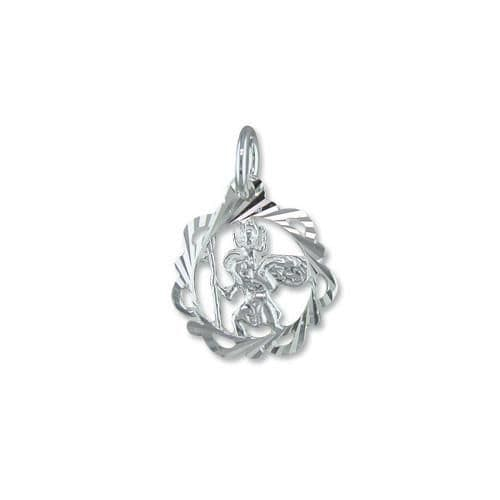 Sterling Silver Fancy Saint Christopher Including Chain